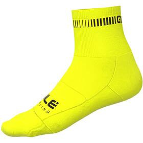 Alé Cycling Logo Q-Skin Sokken Heren, yellow fluo/black